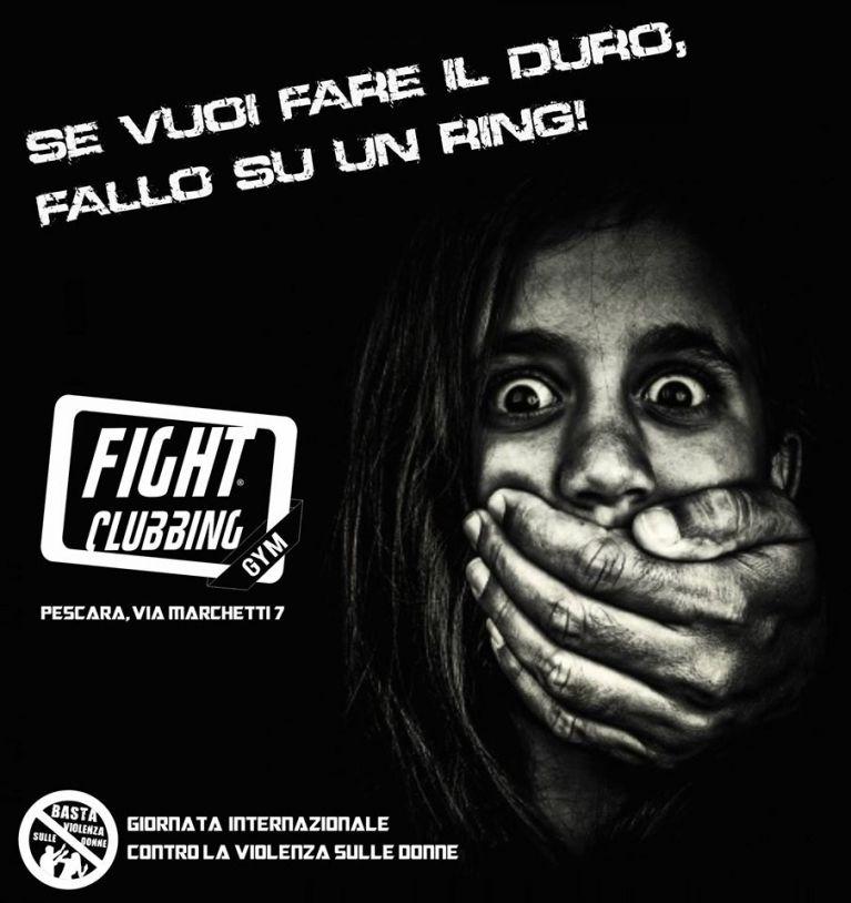 Fight Clubbing in prima linea Contro la Violenza Sulle Donne