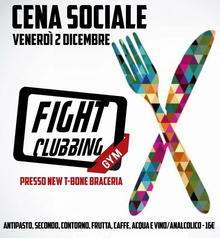 Cena Sociale Fight Clubbing GYM
